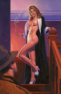 Black Widow - 17x25 Giclee, Greg Hildebrandt