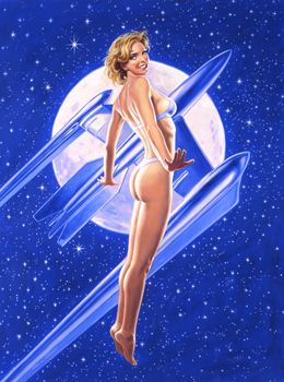 Fly Me To The Moon - 17x25 Giclee, Greg Hildebrandt