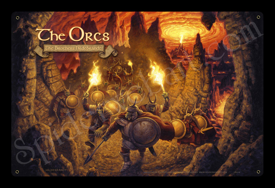 The Orcs Lotr Hildebrandt Autographed Lord Of The Rings
